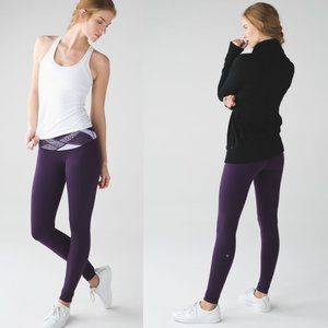 Lululemon Purple Quilted Luon Low Rise Wunder Under Pants
